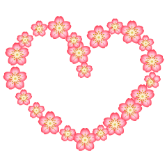Heart mark of cherry blossoms