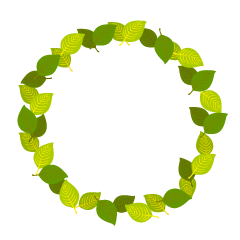 Yellow green leaf circle