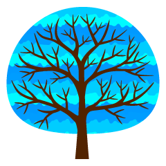 Fashionable Blue Tree