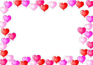 Many heart balloon frame