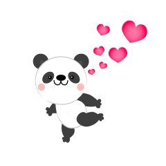 Loveful panda