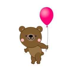 Bear with a ballon