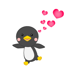 Penguin to fall in love