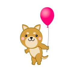 Dog with a ballon