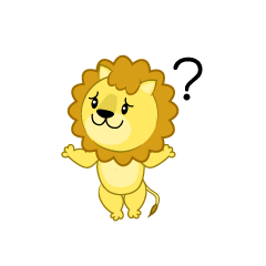 Lion do not know gesture