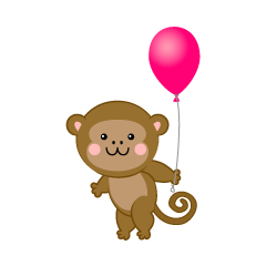 Monkey with a ballon