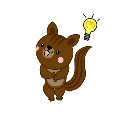 Squirrel that inspires an idea