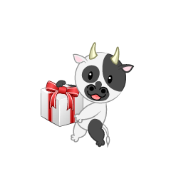 Cute Cow to Present