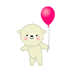 Cute Sheep with balloon