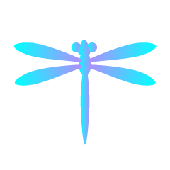 Blue dragonfly mark