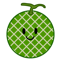 Cute melon character