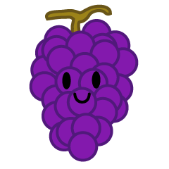 Cute grape character