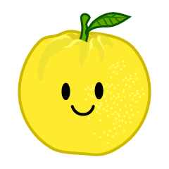Cute grapefruit character