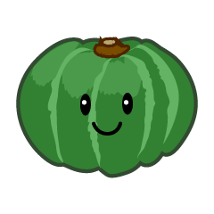 Cute pumpkin character