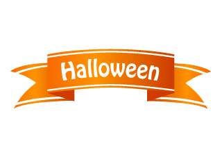 Halloween banner ribbon