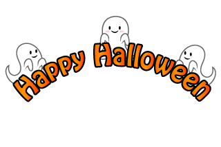 Cute ghost Halloween Title