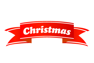 Christmas Banner Ribbon