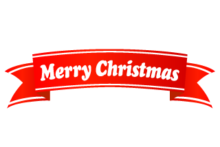 Merry Christmas Banner Ribbon