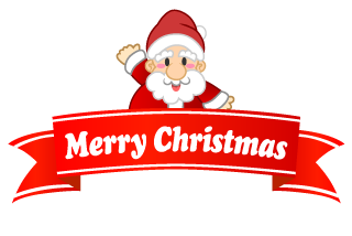 Banner ribbon of Santa Claus