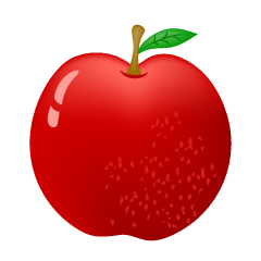 Glossy red apple