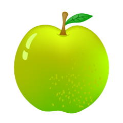 Glossy green apple