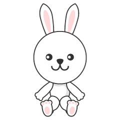 Cute rabbit character