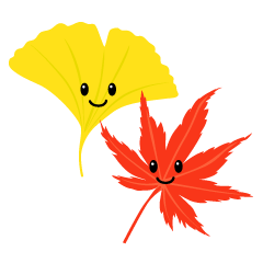 Momiji and ginkgo characters