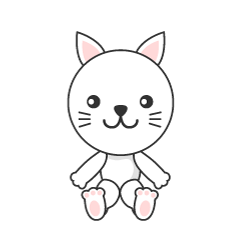 Cute cat character