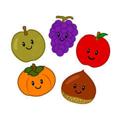 Autumn taste fruit character