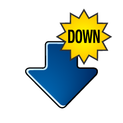 Downward DOWN arrow