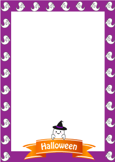 Cute ghost vertical frame