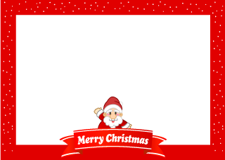 Mary Christmas frame of Santa Claus