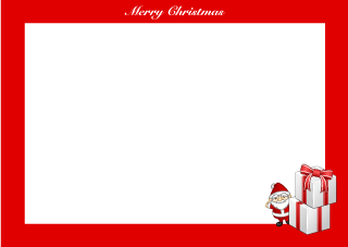 Christmas gift box with Santa Claus