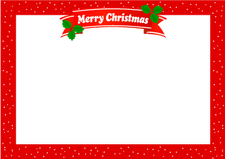 Holly Merry Christmas Frame