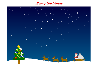 Christmas frame of Santa Claus and Christmas tree