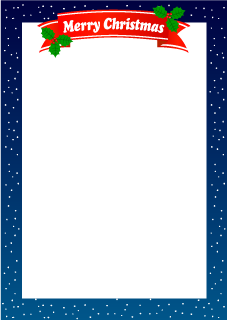 Christmas frame of snow falling night