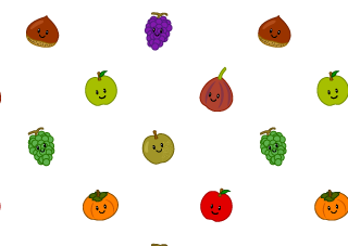 果物のライン線の無料イラスト素材 イラストイメージ