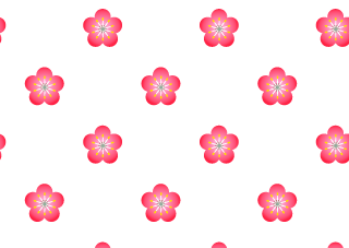 Plum flower pattern wallpaper