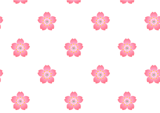 Cherry flower pattern wallpaper