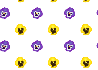 Pansy Floral Pattern Wallpaper