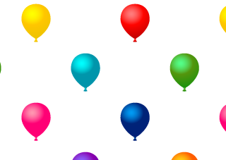 Colorful Balloon Pattern Wallpaper