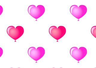 Heart Balloon Pattern wallpaper