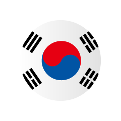 Korean flag (round)