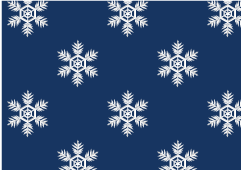 Snow crystal pattern wallpaper