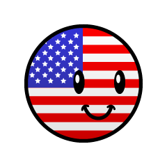 American flag character