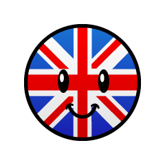 Cute British flag character
