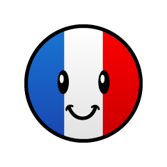 Cute French flag character