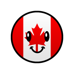 Cute Canadian flag character