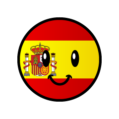 Cute Spanish flag character