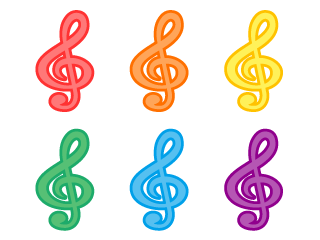 Cute treble clef mark